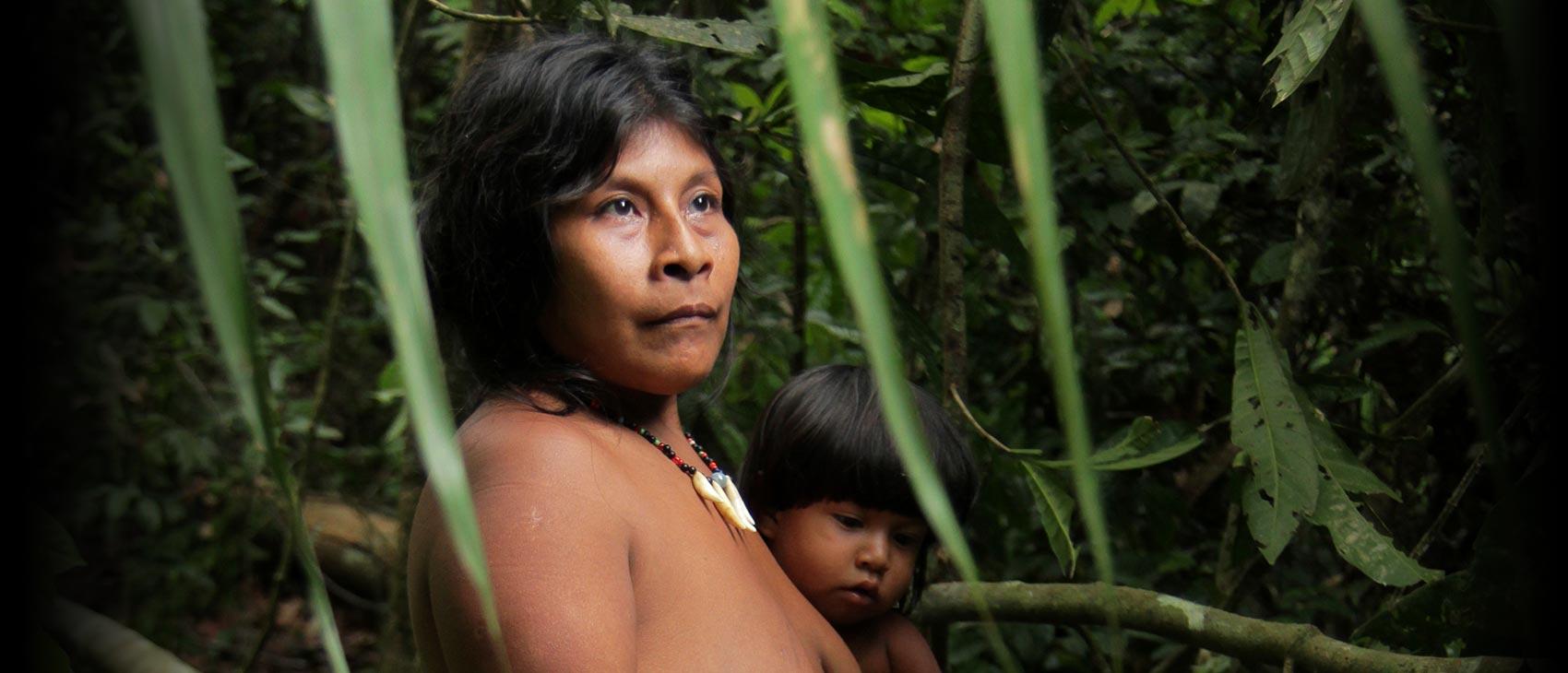 дикие лесные племена амазонки первом
