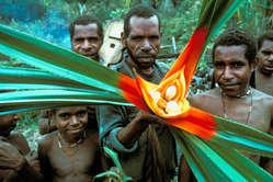 Männer vom Volk der Yali, Papua.
