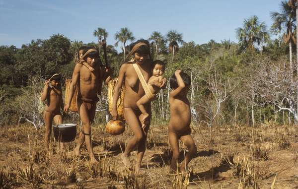 """Eñepa Indians in the Venezuelan Amazon. The Eñepa and other tribes are demanding the removal of armed gangs from their land."""