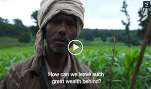 This man's whole community was evicted from Kanha Tiger Reserve. Villagers reported that guards threatened to release elephants on them. Watch moving interviews here.