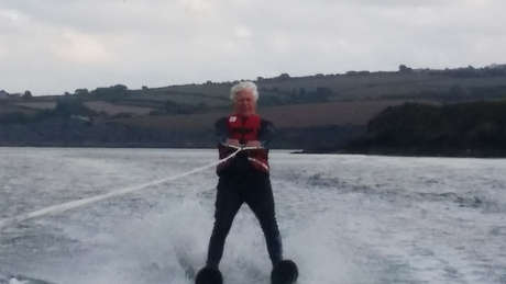 Attempt at triple world record: Oldest, youngest & fastest water-ski the English Channel