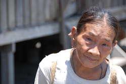 Penan Frau aus Long Liwok, Borneo, Malaysia