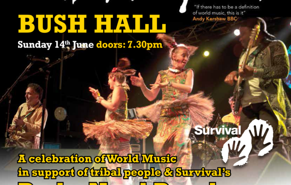 """World music group 'Baka Beyond' will play a special concert in aid of Survival on Sunday, June 14, at London's Bush Hall. """