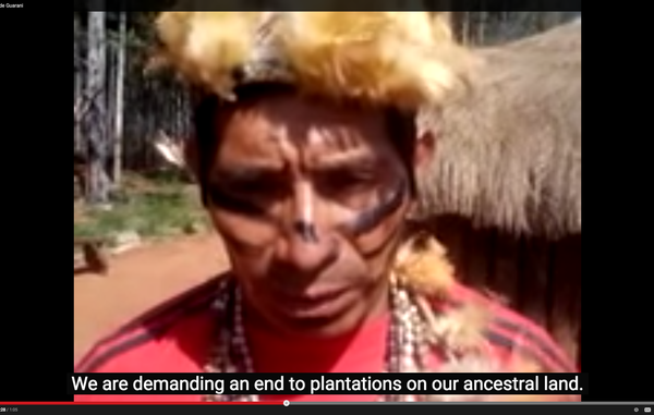 """""""Die Guarani zählen zu den ersten indigenen Völkern, die das Tribal-Voice-Projekt nutzen. Sie haben bereits mehrere deutliche Botschaften an die Welt verschickt."""""""