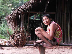 Irahoa Awá and his family were forced out of their forest home after being surrounded by loggers.