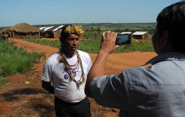 """The Guarani are one of the first tribes to speak direct to the world with Survival's new project, Tribal Voice."""