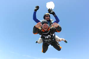 One of Robin Hanbury-Tenison's challenges included skydiving from about 4000 meters.