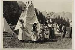 Awahneechee Indians were tolerated inside Yosemite for a few decades but had to pretend to be Plains Indians for tourists in Yosemite, 1916-29.