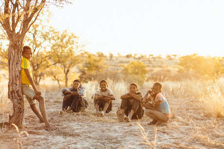 Botswana Bushmen, Kua Children.