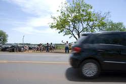 Die Guarani-Gemeinde von Laranjeira Nanderu hat anderthalb Jahre am Rand einer Bundesstraße gelebt.