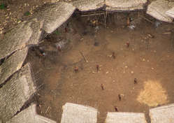 """""""Uncontacted Yanomami Indians photographed from the air near the Venezuelan border. They appear to be in good health, and their population appears to have grown."""""""