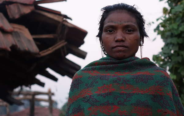 Baiga woman evicted from Kanha Tiger Reserve.