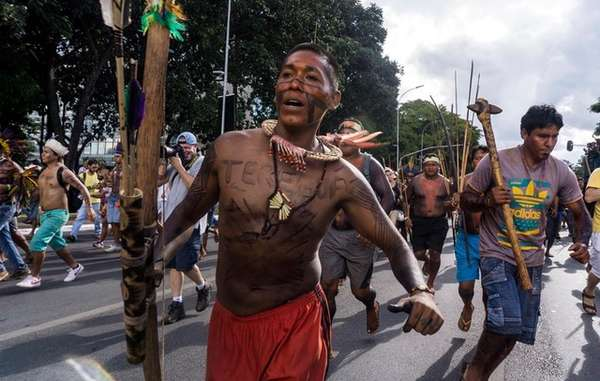 Brazil has seen frequent indigenous protests this year, against the anti-Indian policies of President Temer.