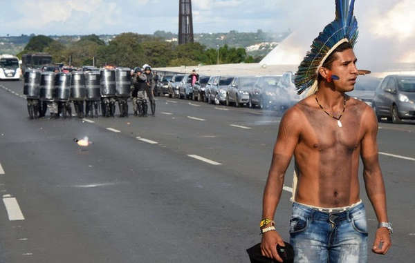 President Temer's proposed legal opinion has sparked major indigenous protests in Brasilia