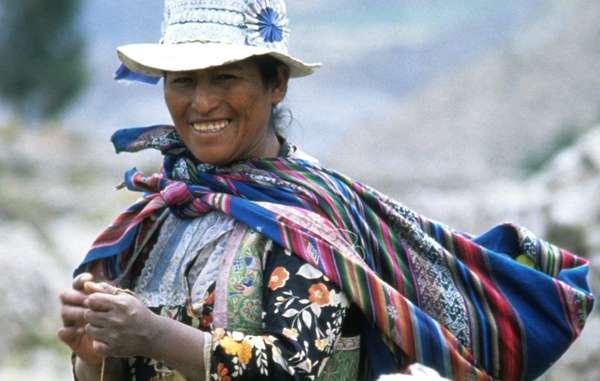 Los indígenas andinos fueron los primeros en domesticar la patata hace más de 7.000 años. © H. Mason/ Survival