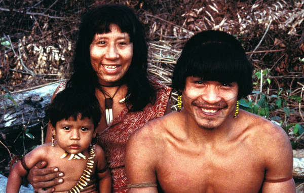 The Uru Eu Wau Wau are famous for tattooing around their mouths with genipapo, a black dye made from an Amazonian fruit.