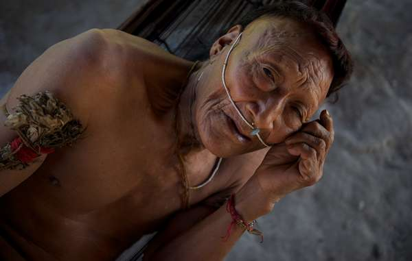 Raya, a Nahua elder. More than half his people were wiped out after their land was opened up for oil exploration