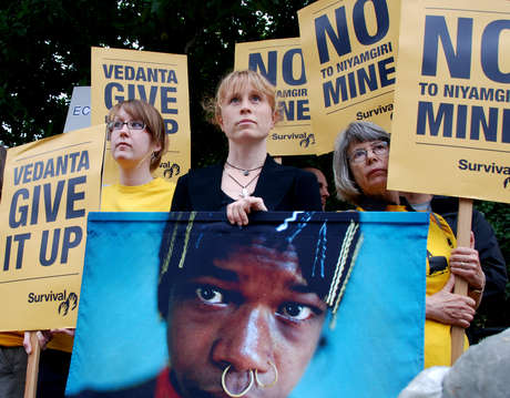 Survival campaigners to Vedanta: 'Give it up'