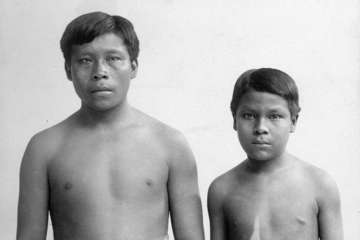 Omarino and Ricudo, two Witoto slaves brought to the UK in 1911