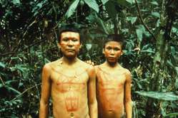 Nukak men photographed in 1991, Colombia
