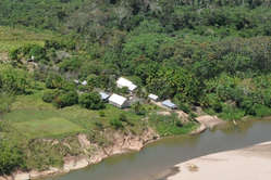 The FUNAI base which was over-run by suspected drug traffickers, along the Envira river in the Brazilian state of Acre.