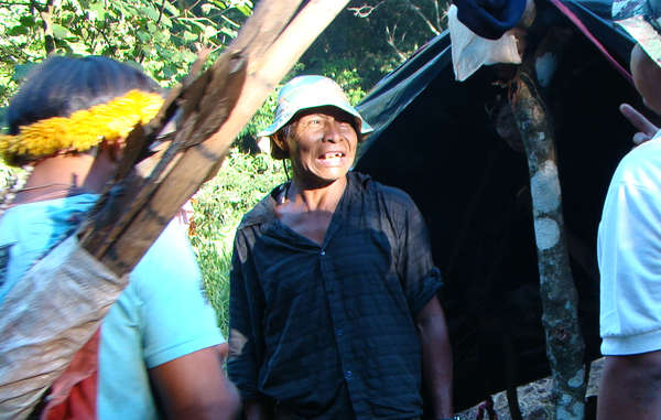 Nísio Gomes, a Guarani shaman and leader was shot dead in front of his community by ranchers' gunmen, following the reoccupation of their ancestral land in the southern state of Mato Grosso do Sul, Brazil, 2011.
