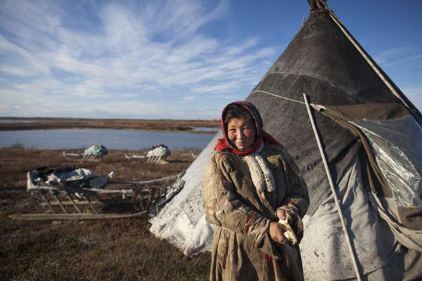 Nenet woman, Yamal Peninsula, Russia.