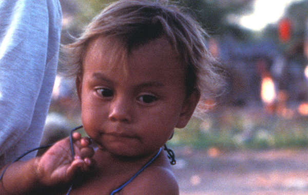Enxet child in the Chaco region of northern Paraguay. 