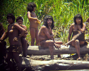 Uncontacted Mashco-Piro Indians in Peru are emerging from isolation, prompting speculation loggers are invading their territory.
