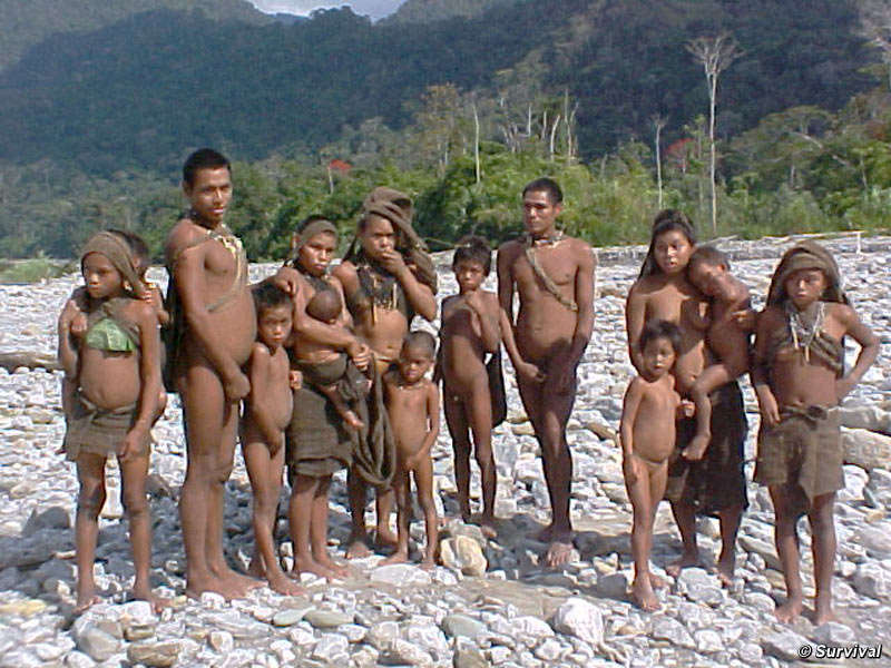 A group of Nanti people from Peru.