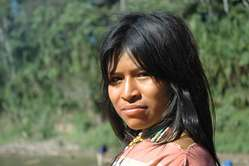 This Ashéninka woman lives right on the edge of uncontacted Murunahua territory where Petrobras want to explore for oil.