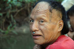 """A recently contacted Mastanahua man in Peru. Some Mastanahua remain uncontacted. """