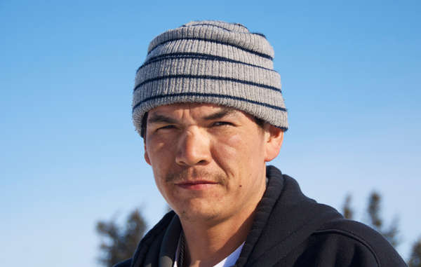 Giant (Michel Andrew), who aims to connect young Innu with &apos;nutshimit&apos;.