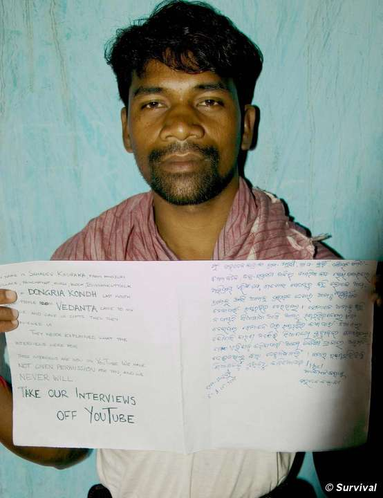 Dongria Kondh man reveals his role in Vedanta's video campaign.