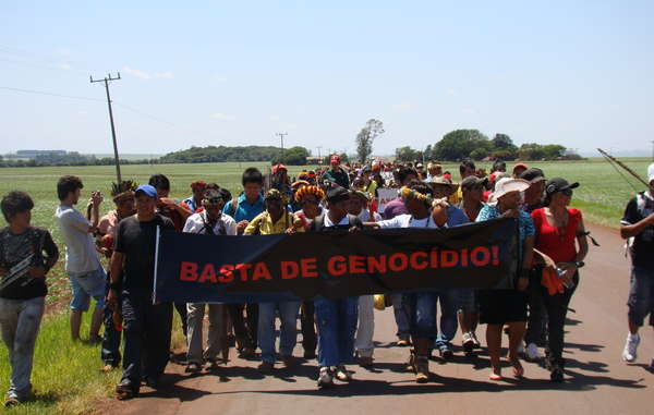 The Guarani people are determined to fight for their land and rights, and frequently protest.