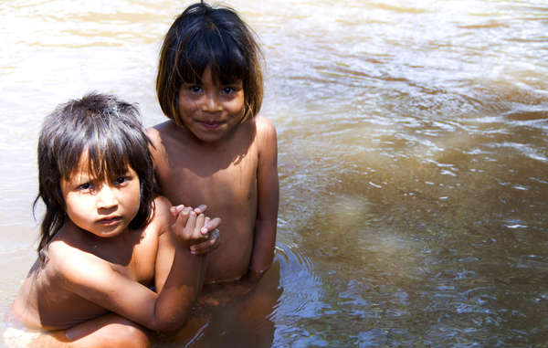 The local streams provide water for the Guarani to drink, wash and cook.