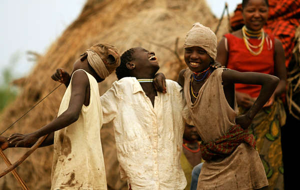 Hadza children from Yaeda Chini, in northwest Tanzania.