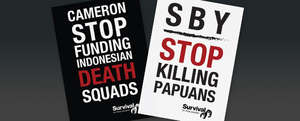 Survival&#8217;s protest will coincide with the arrival of Indonesia&#8217;s President in London.