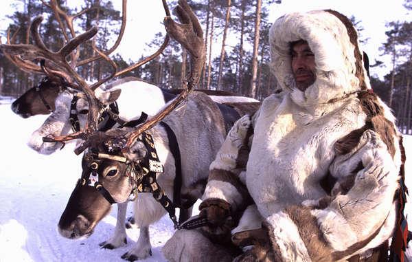 Ein Angehöriger der Khanty in Sibirien