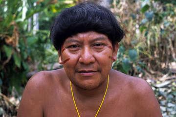 Davi Kopenawa is a Yanomami shaman and spokesman.