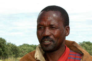 Amogelang Segootsane was treated in hospital last week after he was beaten up by wildlife scouts.