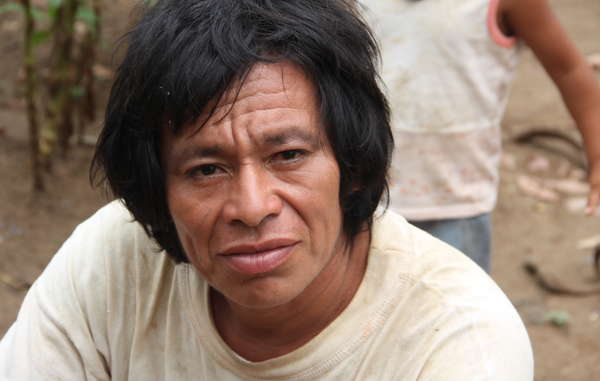 """Plans to explore for natural gas in the Nahua-Nanti Reserve threaten the uncontacted relatives of this Nanti man."""