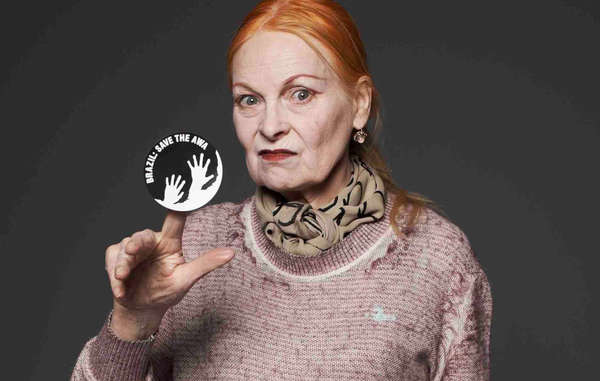 Internationally renowned fashion designer Vivienne Westwood has called on Brazil to save Earth's most threatened tribe. (Image can only be used in connection with Survival International's Awá campaign)