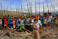 Indigene Völker protestieren in Bagua  - eine Woche vor der Gewalt.