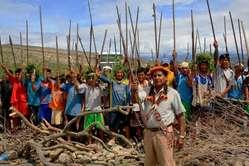 Inheemse protesten nabij Bagua een week voor het geweld
