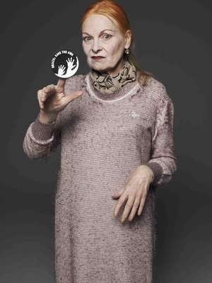 Internationally renowned fashion designer Vivienne Westwood has called on Brazil to save Earth's most threatened tribe. (Image can only be used in connection with Survival's campaign)