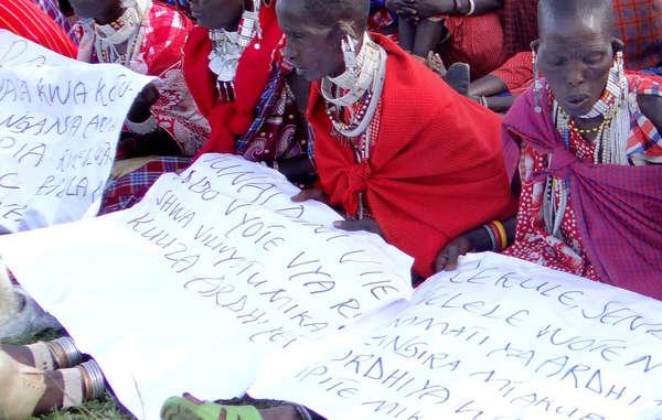Massai-Frauen in Loliondo, Tansania.