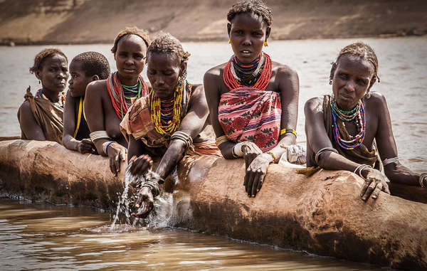 """Tribespeople in the Lower Omo valley depend on regular floods to water their crops and feed their livestock"""