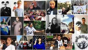 Celebrities and hundreds of supporters have spread the message 'Brazil: Save the Awá' around famous landmarks worldwide.
