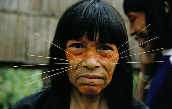 """Many of the local Matsés Indians believe the uncontacted Indians are related to their tribe. They strongly reject Pacific Rubiales' work in the proposed reserve. """